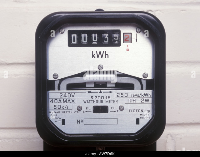 Kilowatt Hour Meter : Kilowatt stock photos images alamy