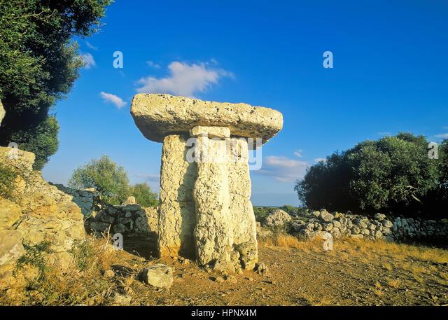 Taula de Torre Trencada, Minorca, Balearic Islands, Spain, Europe - Stock Image