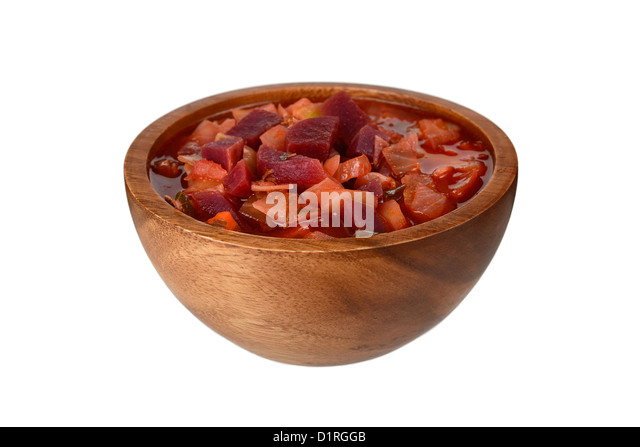 Borscht, Russian traditional Beetroot soup, stew - Stock Image