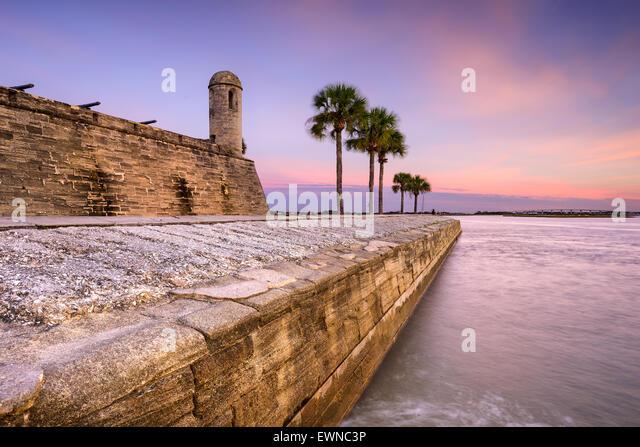 St. Augustine, Florida at the Castillo de San Marcos National Monument. - Stock-Bilder