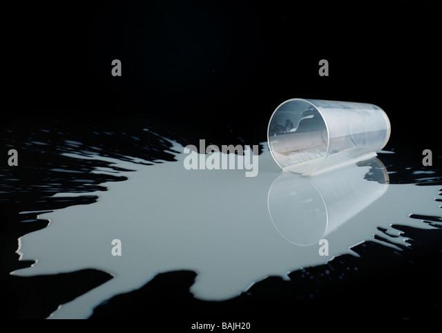 Spilt milk - Stock Image