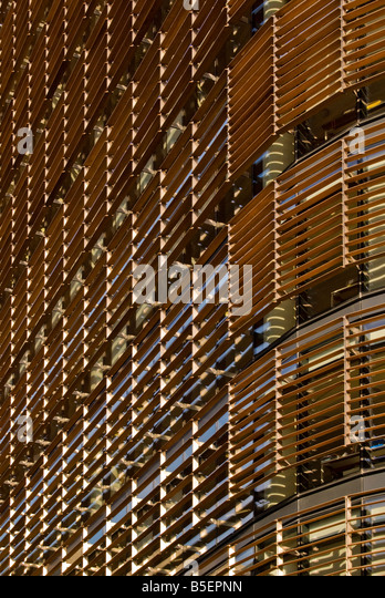 Detail of new office complex, London - Stock Image