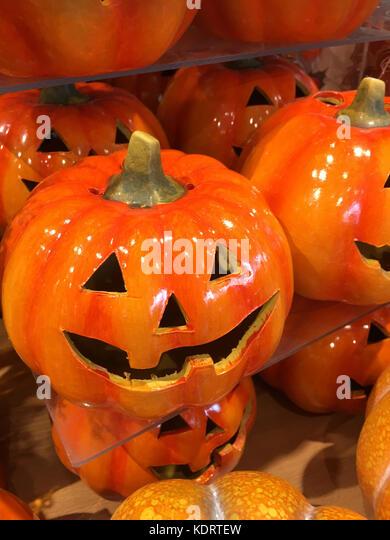 Halloween celebrations - jack-o-lantern - Stock Image