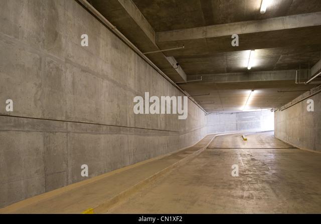 Underground car park, Vancouver, British Columbia, Canada - Stock Image