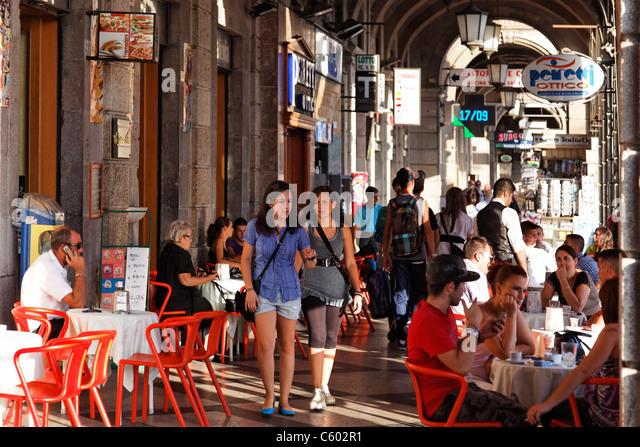 Cagliari , Cafe Torino, Italy Sardinia - Stock-Bilder