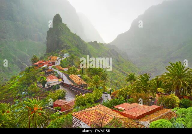 Masca village, Tenerife, Canary Islands, Spain - Stock Image
