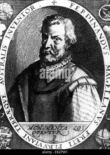 Portuguese explorer Ferdinand Magellan. - Stock Image