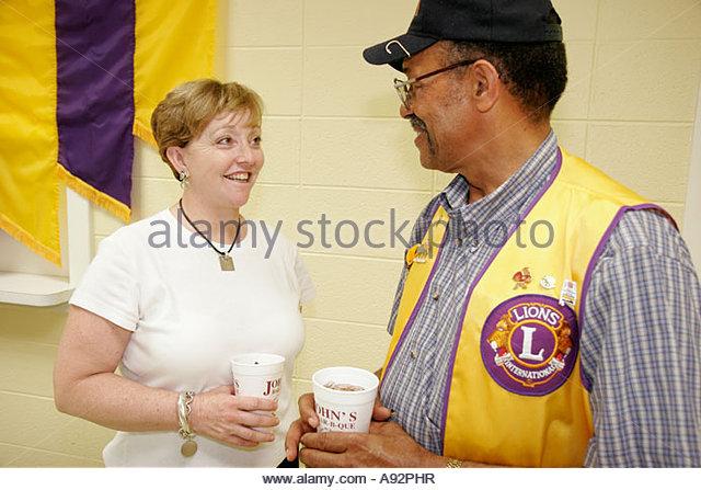 Alabama Moulton Lions Club Lions Club International dinner Black male female community volunteers - Stock Image