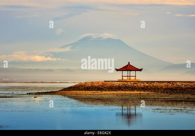Indonesia, Bali, Sanur, Morning at Sanur beach - Stock Image