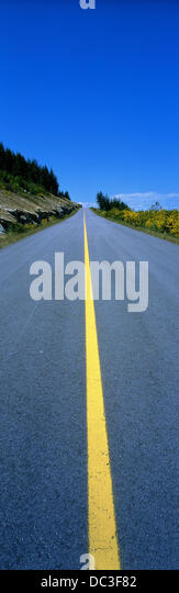 Empty road in Canada - Stock Image
