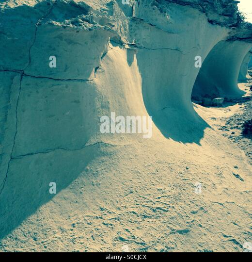 Limestone cliffs Gozo - Stock Image