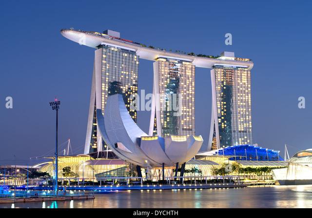 Marina Bay Sands Casino and Resorts - Stock-Bilder