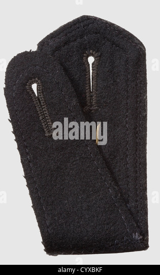 Single shoulder board 'Oberscharfuehrer' of the ss-Standarte 'Thueringen', with rear loop, unissued, - Stock-Bilder