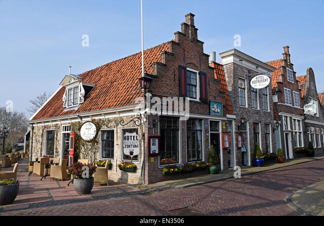 Hotel De Fortuna, Edam, province of North Holland, The Netherlands - Stock Image
