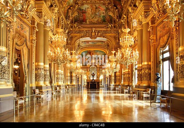 France, Paris, the Garnier Opera, the Grand Foyer - Stock Image