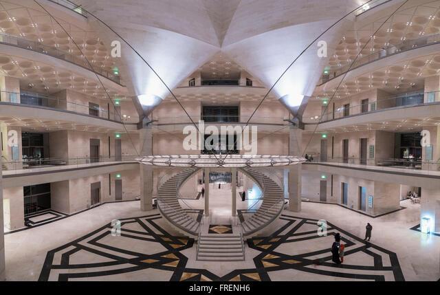 Interior view of Museum of Islamic Art in Doha Qatar - Stock Image