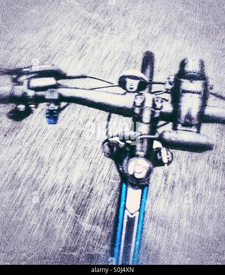 Handlebar on a cycle - Stock Image