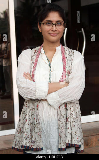 Producer and director, Kiran Rao Khan pose for a picture during the promotion of Film Dhobi Ghat in Mumbai - Stock-Bilder
