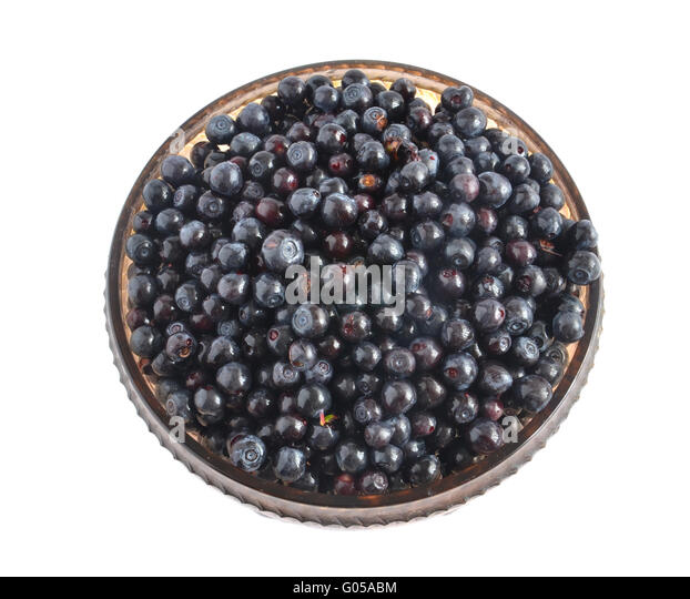 Blueberries On White Isolated Background Stock Photos