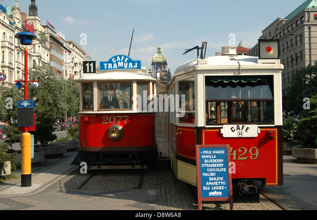 old tram prague street - photo #12