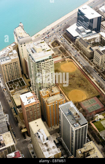 Chicago, Illinois, United States of America Green Space Downtown - Stock Image