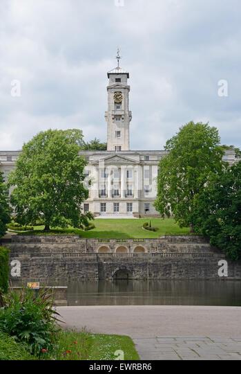 Nottingham University, Portland building. England, - Stock Image