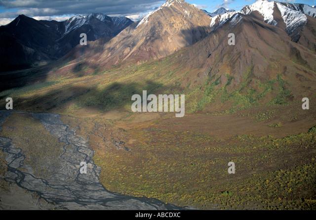 Alaska Denali National Park aerial - Stock Image