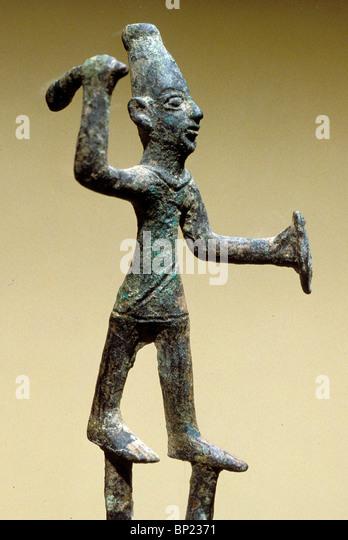 135. BRONZE FIGURINE OF BAAL, CNAANITE GOD OF WAR - Stock Image