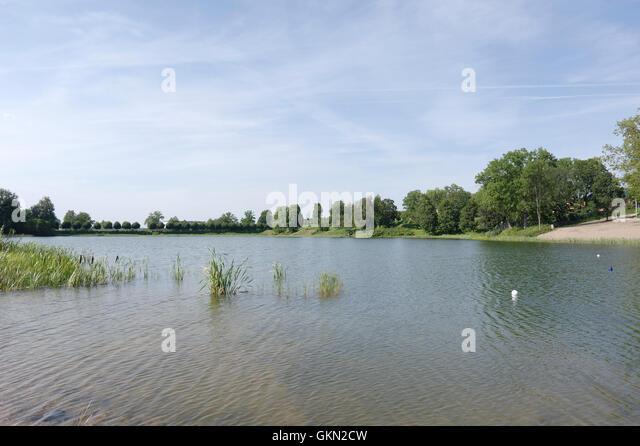 Raadi Lake on Raadi, Tartu, Estonia. - Stock Image