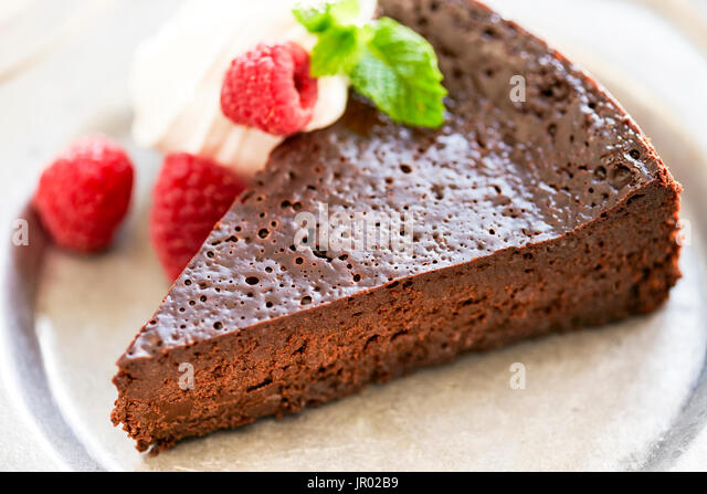 chocolate cake, gluten free, flourless - Stock Image