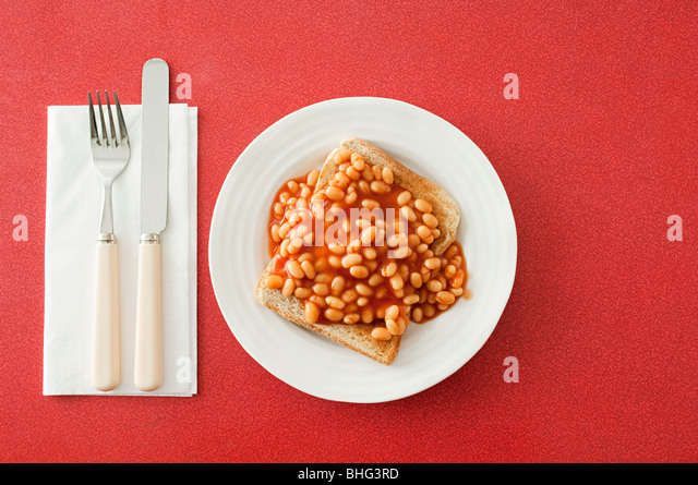 Beans on toast - Stock Image