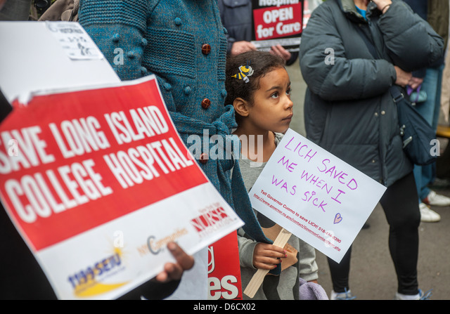 Save Long Island College Hospital rally - Stock Image