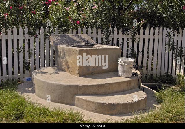 Anguilla Sandy Ground old well historic landmark - Stock Image