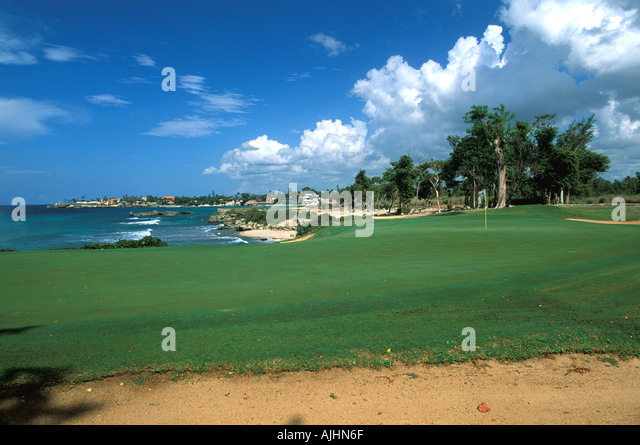 Dominican Republic Casa de Campo Teeth of the Dog Golf Course - Stock Image