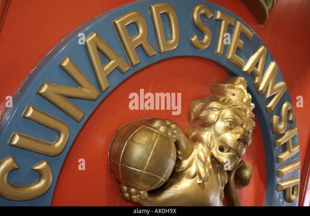 England UK Liverpool Maritime Museum Cunard Steamship - Stock Image