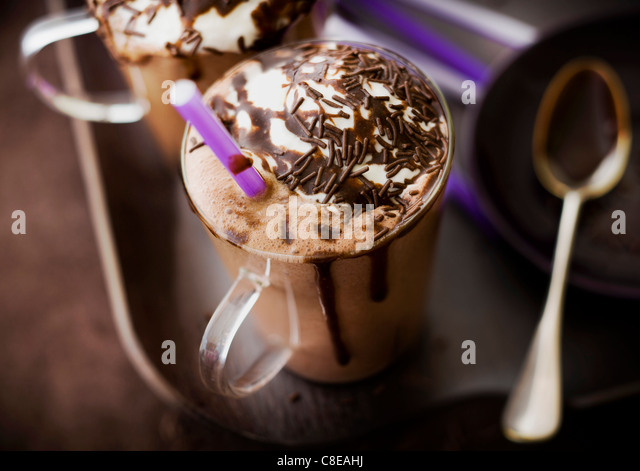 Chocolate milk shake - Stock-Bilder