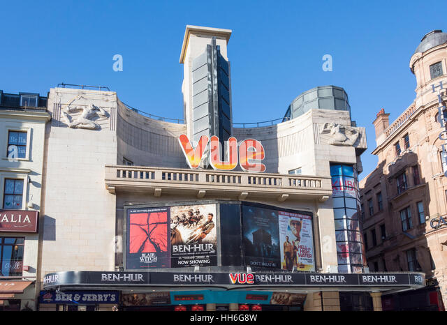 Vue Leicester Square Cinema, Cranbourn Street, Leicester Square, City of Westminster, Greater London, England, United - Stock Image