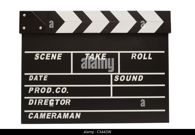 Clapper board with clipping path - Stock-Bilder