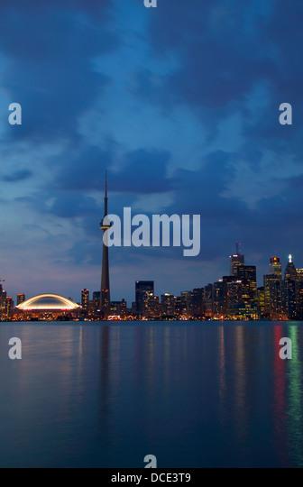 Toronto Skyline At Night - Stock Image