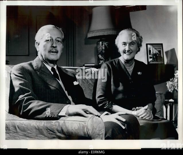 Jan. 01, 1960 - African Visitors: A new picture of Prime Minister Harold Macmillan and his wife, Lady Dorothy Macmillan - Stock Image