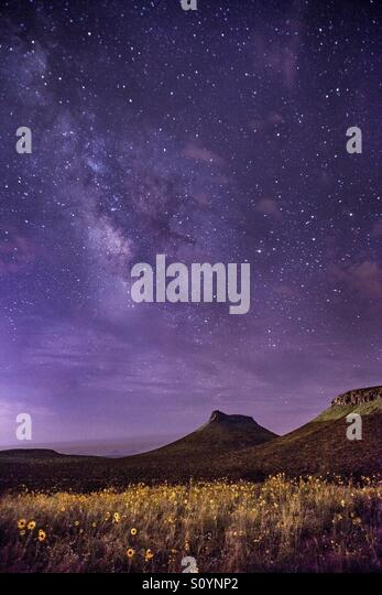 Milky Way over the Robledo Mountains - Stock Image