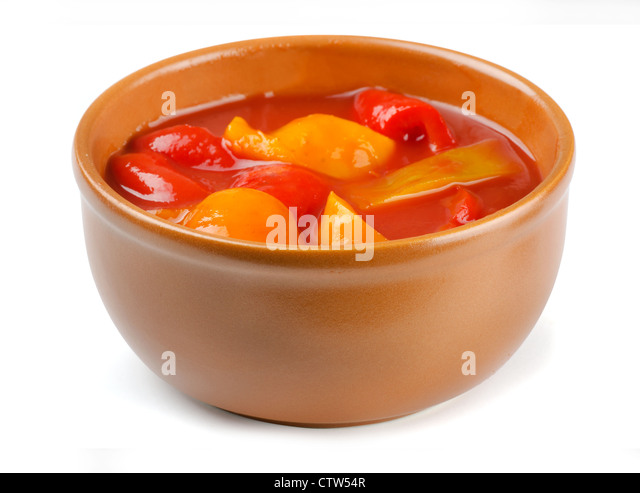 Lecho - stewed vegetables, traditional hungarian food - Stock Image