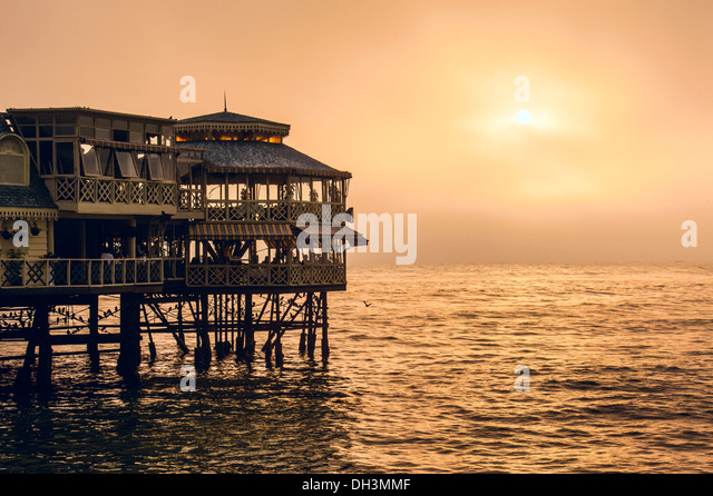 Evening Lima. Sunset on the Pacific Ocean,  Peru, Latin America - Stock Image