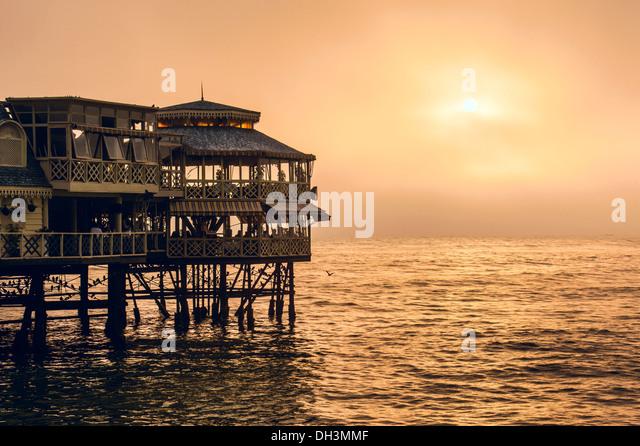 Evening Lima. Sunset on the Pacific Ocean,  Peru, Latin America - Stock Image