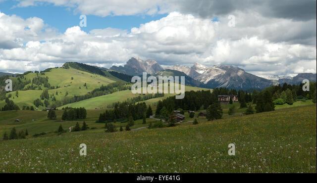 Seiser, Alm, Dolomiten, UNESCO-Weltnaturerbe, Dolomiti, - Stock-Bilder
