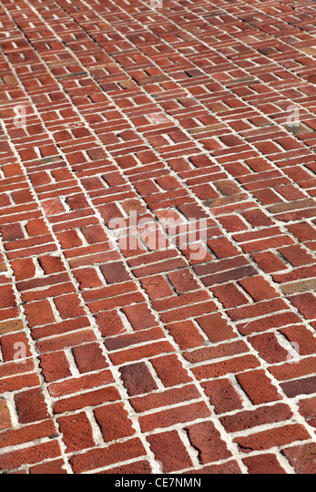 Red Brick Walkway for background - Stock-Bilder