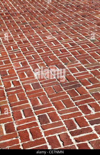 Red Brick Walkway for background - Stock-Bilder