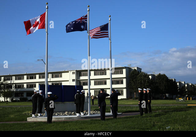 160425-N-DC740-042 OAK HARBOR, Wash. (April 25, 2016) Sailors from Naval Air Station Whidbey Island (NASWI) along - Stock Image