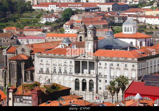 Palácio da Bolsa, Stock Exchange Palace, Porto, Distrikt Porto, Portugal, Europe - Stock-Bilder