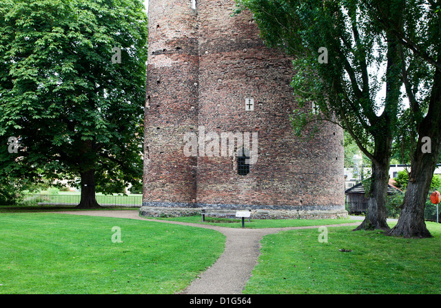Cow Tower, Norwich, Norfolk, England, United Kingdom, Europe - Stock Image